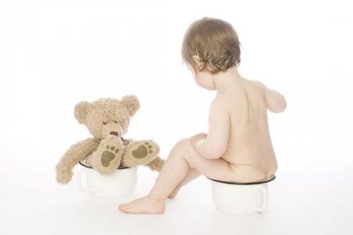 Pottetrening bamse og barn