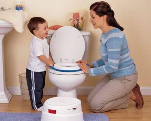 barn og mor pottetrening