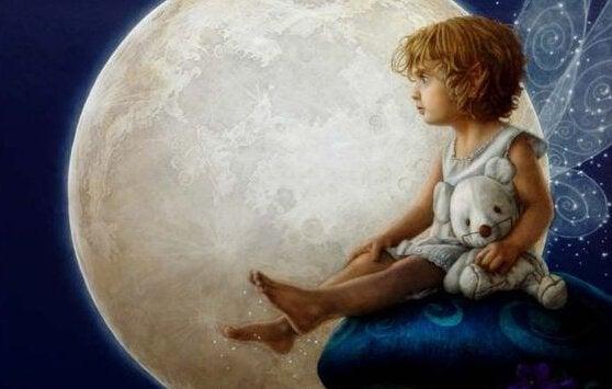 Barn og månen