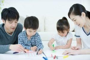 Japansk familie