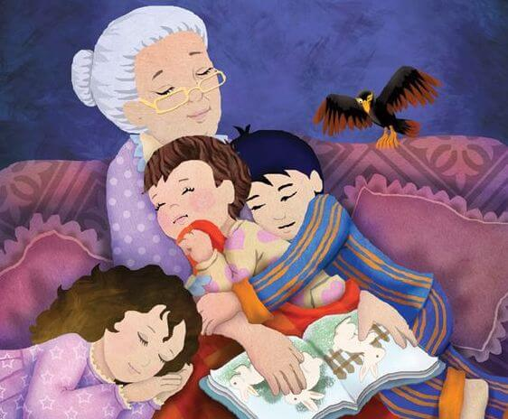 Bestemor og barnebarn