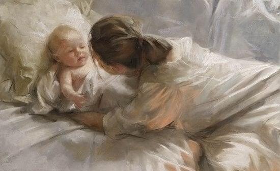 Kysser våre barn om morgenen