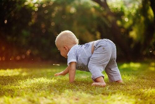 Fordeler med krabbing for babyer