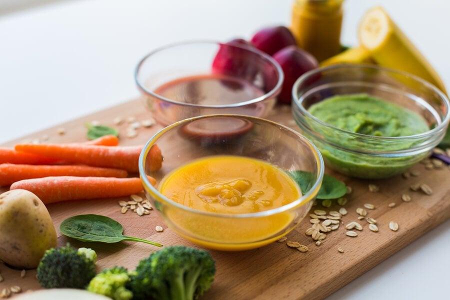 3 pureer rike på proteiner for barn