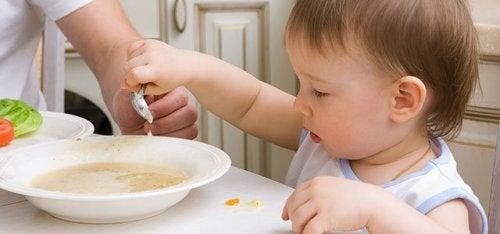 Oppskrifter for babyer mellom 9 og 12 måneder
