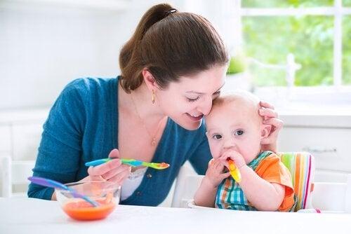 Smakfulle oppskrifter for babyer mellom 6 og 9 måneder