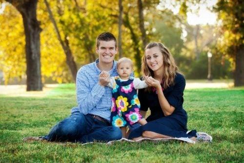Familie med enebarn