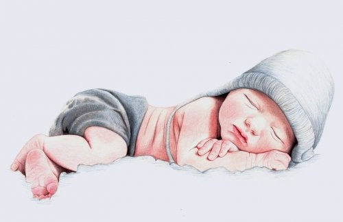 Baby som sover