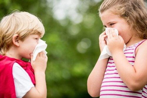 Barn med allergier snyter seg