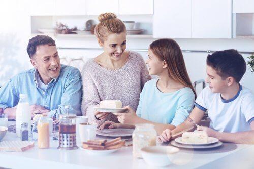 Frokost hos en fosterfamilie