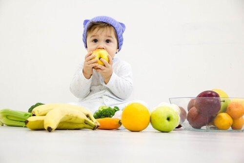 Frukt er godt for helsen til babyer