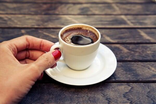 En kopp med kaffe