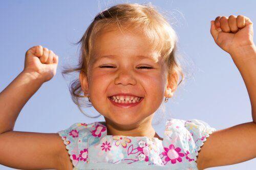 Lykkelig barn