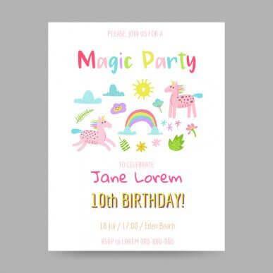 5 ideer til å lage bursdagsinvitasjoner