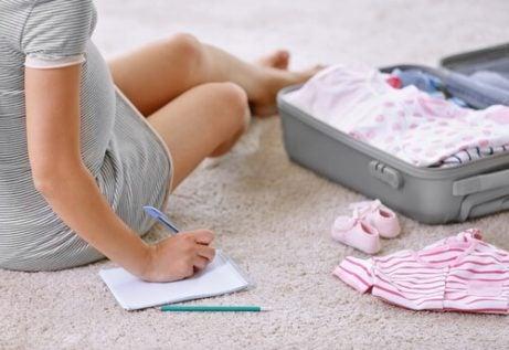 pakke før fødselen