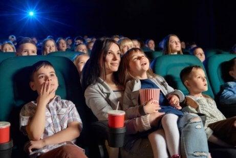 familie på kino