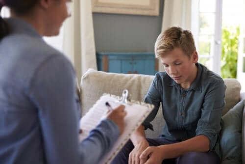 Tenåring hos psykolog