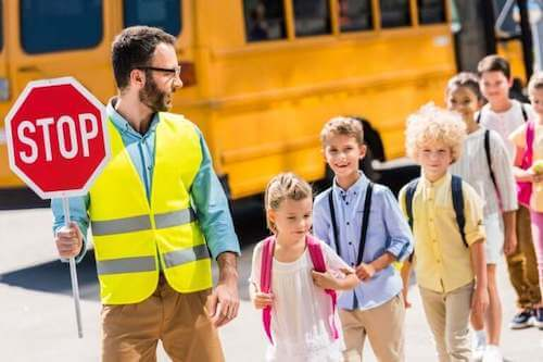 barn i trafikken
