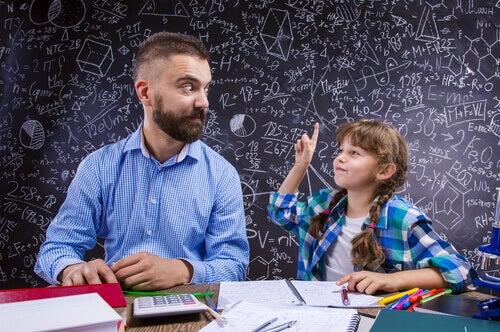 Kumon metoden krever tilstedeværelsen av foreldrene.