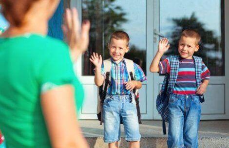 Barn som begynner på skolen igjen