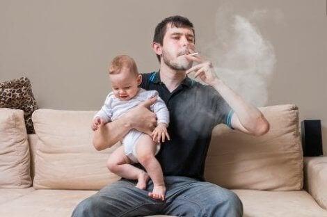 Advarsel: Effektene av tobakk hos barn