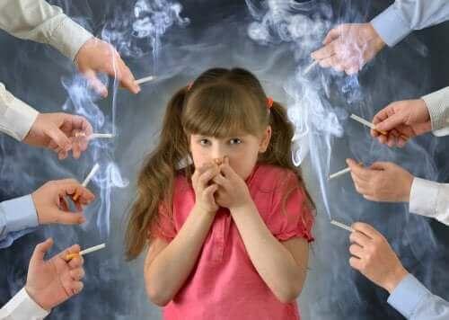 Advarsel: Effekten av tobakk på barn