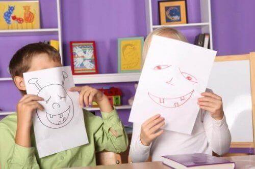 De ulike stadiene i barns tegneferdigheter