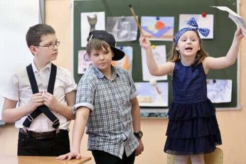 Barn som opptrer