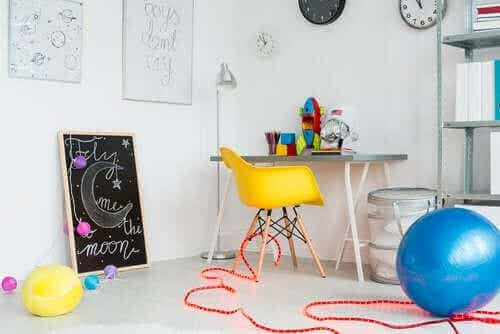 4 ideer for å organisere et lekeområde for barna