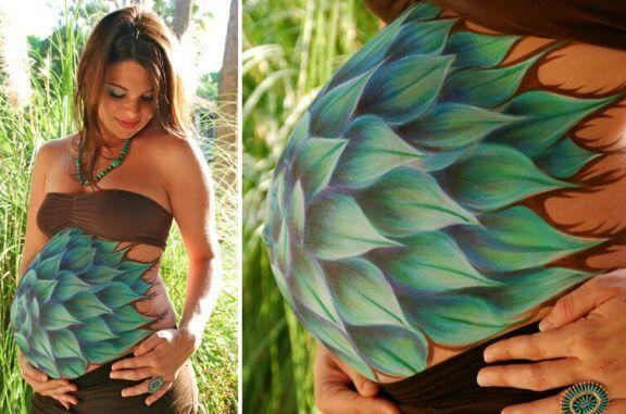 Maling av magen kan være et uttrykk for mors preferanser.