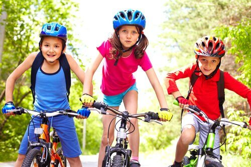 Å lære barn hvordan å sykle