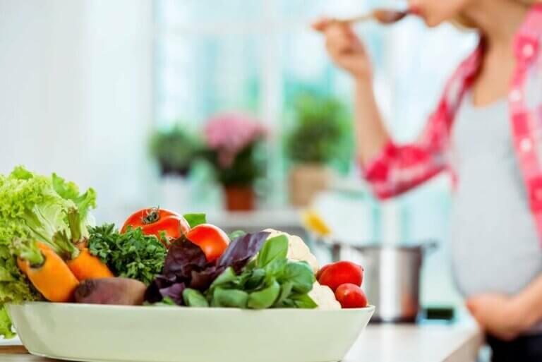 En diett for gravide bestående av myk mat