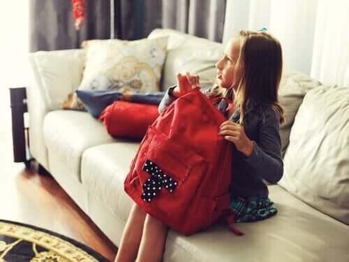 Tips for å pakke barnas skolesekk