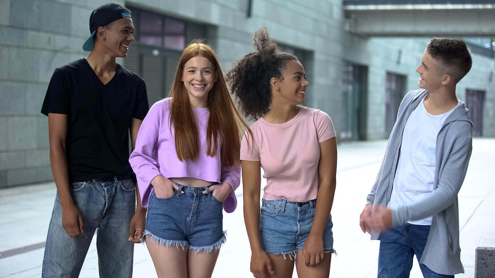 En gruppe tenåringer