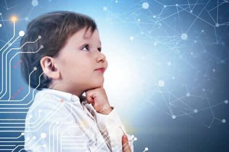 Et barn som tenker