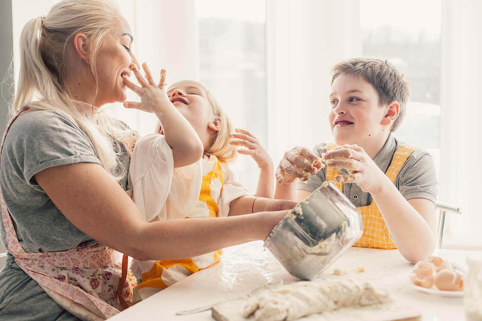 Matlagingsaktiviteter for barn i alderen 3 til 6