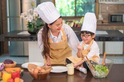 Matlagingsaktiviteter for barn i alderen 3 til 6 år