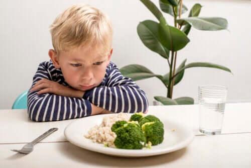 En barns mangel på matlyst etter ett års alder